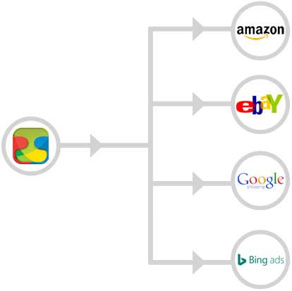 Automatically manage Amazon, eBay, Google Shopping from TrueGether