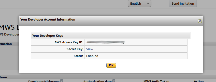 Note down your AWS Access Key ID