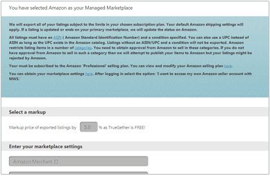 Now Amazon configuration page will open